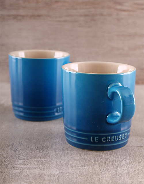 house-warming: Le Creuset Double Coffee Mug Set!