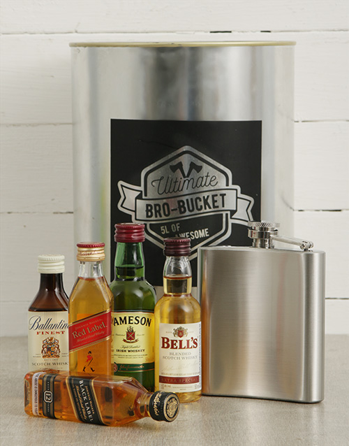 man-crates: Hip Flask Bro Bucket!