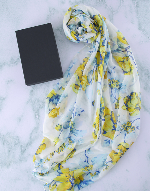 mothers-day: Botanical Scarf in a Gift Box!
