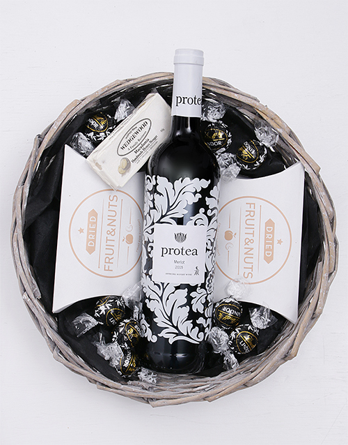 birthday: Protea Merlot &Snack Basket!