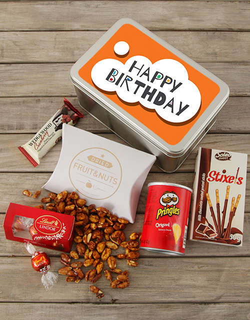 gourmet: Birthday for Him Snack Tin!