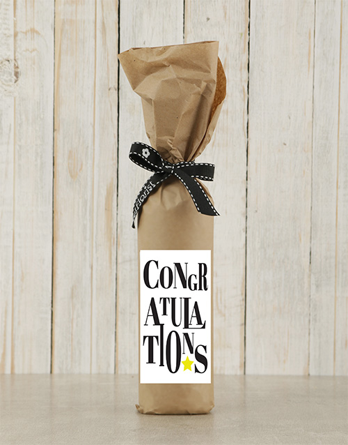congratulations: Congratulations Wine in Craft Paper!