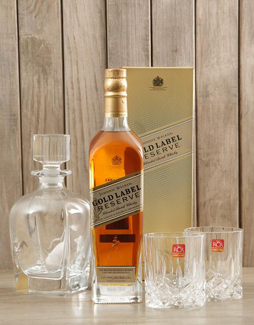 fine-alcohol: Johnnie Walker Gold, Glasses & Decanter!