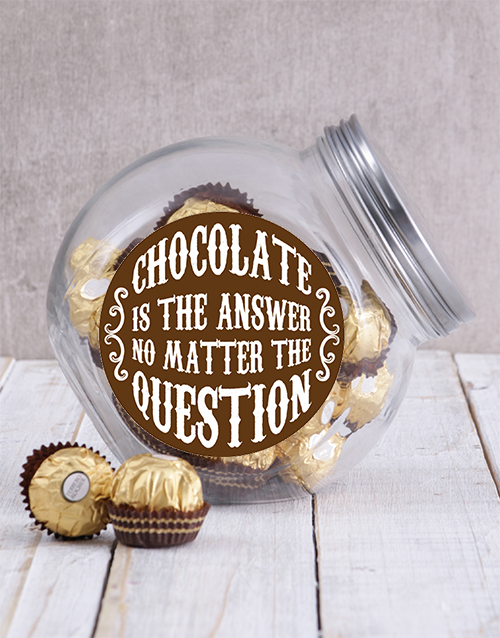 teachers-day: Chocolate Is The Answer Candy Jar!