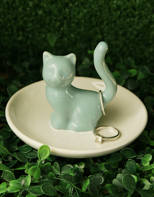 mothers-day: Cat Jewellery Ceramic Holder!