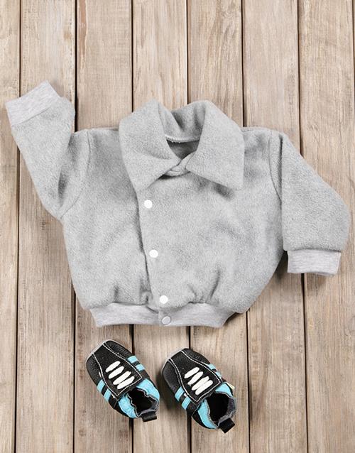 baby: Baby Boy Aviator Jacket & Shoes Gift Set!