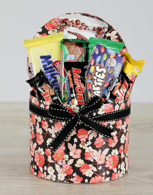 chocolate: Floral Nestle Hat Box!