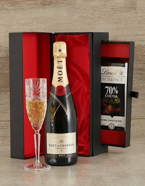fine-alcohol: Moet and Lindt Box!