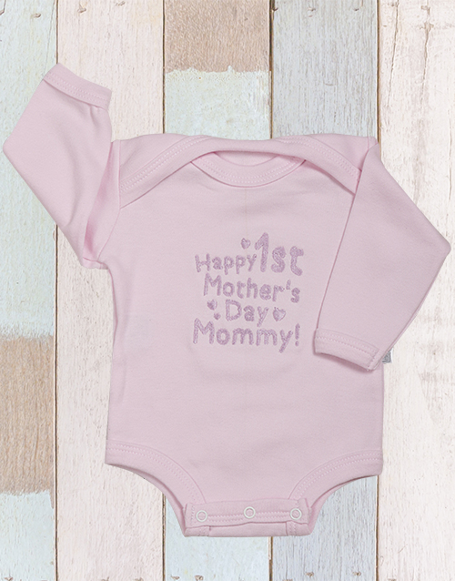 mothers-day:  Happy First Mothers Day Onesie!