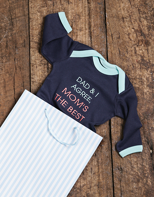 mothers-day: Moms The Best Onesie!