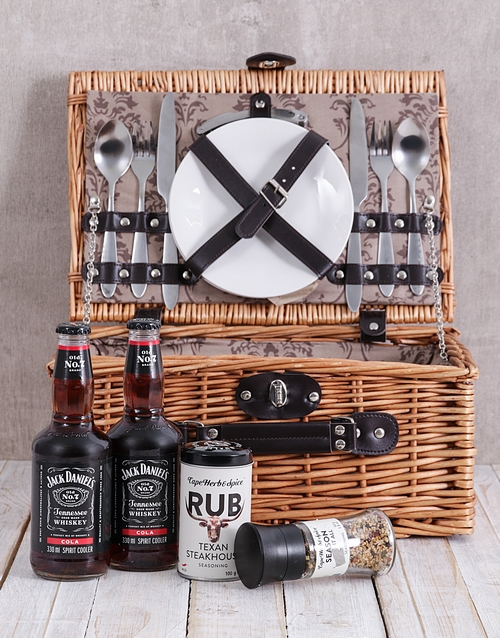 gourmet: Spice and Jack Daniels Cola Picnic Basket!