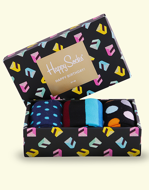 apparel: Happy Birthday Singing Happy Socks Giftbox!