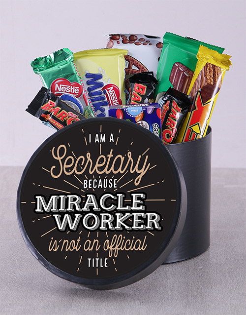 secretarys-day: Miracle Worker Chocolate Hat Box!