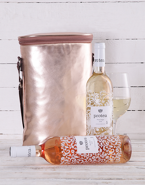 gourmet: Rose Gold Double Wine Cooler!