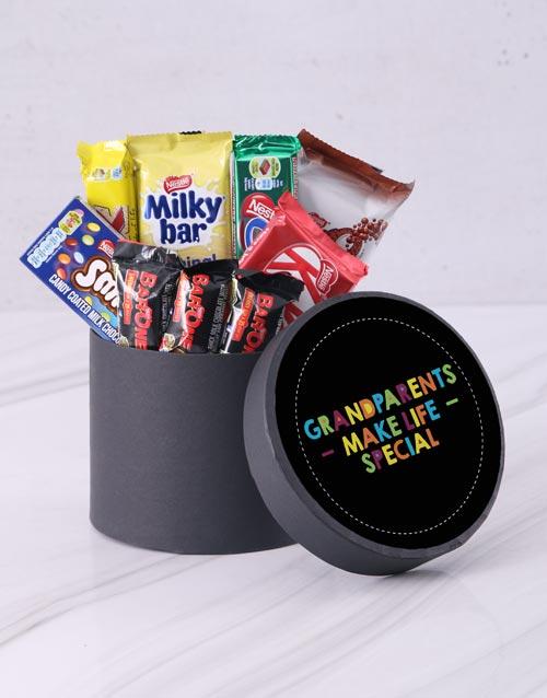 grandparents-day: Grandparents Make Life Special Choc Hat Box!
