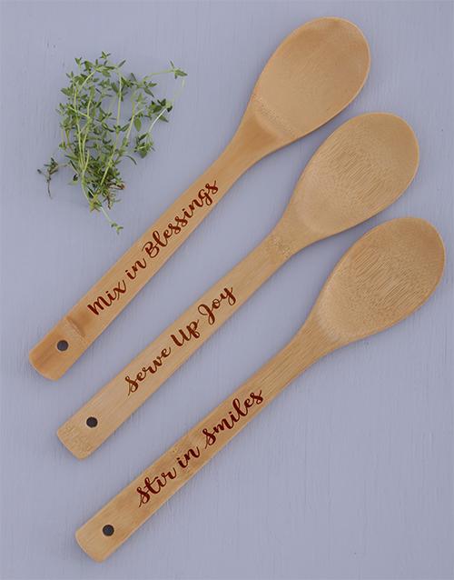 homeware: Serve Mix Stir Spoon Set!