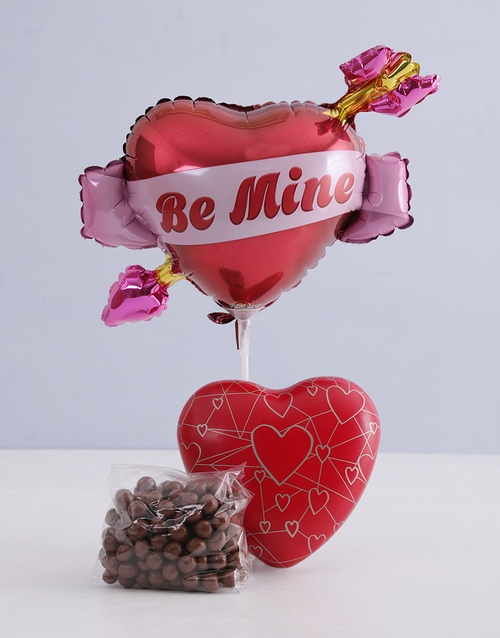 balloon: Heart Tin Hamper!