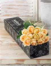 Picture of Cream Roses in a Box !