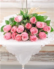 Picture of A Dozen Pink Roses with 3 Free!