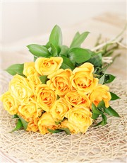Picture of A Dozen Yellow Roses with 3 Free!