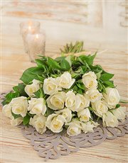 Picture of White Roses in Cello!