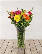 Picture of Rainbow Floral Arrangement!