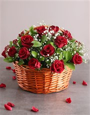Picture of Red Rose Basket Assorted!