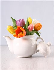 Picture of Tulips in a Teapot!