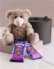 Picture of Teddy and Cadbury Chocolates in Gift Box!
