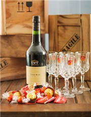 Picture of KWV Liqueur Wine and Delicious Chocolates!
