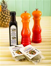 Picture of Le Creuset Flame Salt and Pepper Mills!