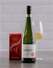 Picture of Simonsig Wine and Lindt!