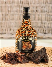 Picture of Wild Africa Liqueur with Biltong!