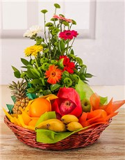 Picture of Fresh Fruit and Flower Basket!