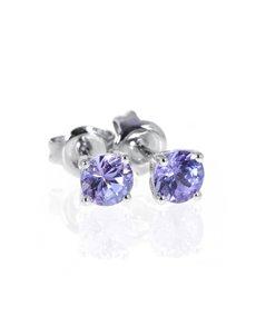 jewellery: 9KT Round 0,66ct Tanzanite Studs!
