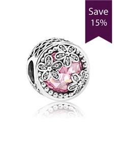 jewellery: Pandora Silver Pink Daisy Charm!