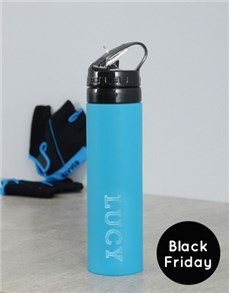 gifts: Personalised Black Friday Silicone Water Bottle!
