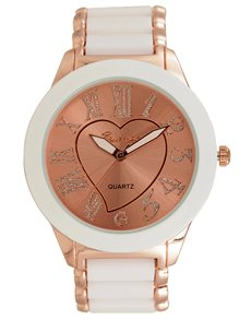 gifts: Bad Girl Carmen White and Rose gold Watch !