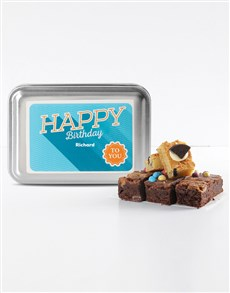 bakery: Personalised Mixed Delights Birthday Brownies!