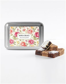 bakery: Personalised Floral Sweet Tooth Brownie Tin!