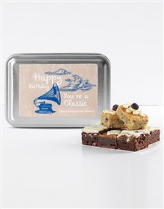 bakery: Personalised Birthday Classic Gourmet Brownie Tin!