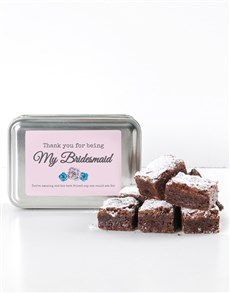 bakery: Personalised Thank You Choc Chunk Brownie Tin!
