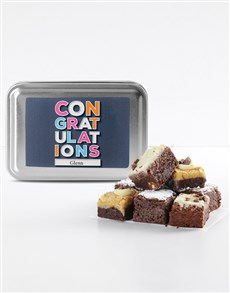 bakery: Personalised Congratulations Chocfull Brownie Tin !
