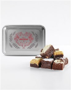 bakery: Personalised Anniversary Chocfull Brownie Tin!