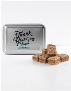 bakery: Personalised Thank You Cinnamon Sugar Blondies!