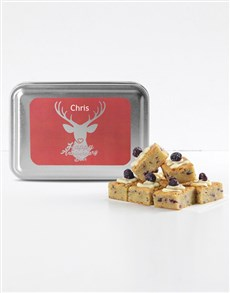 bakery: Personalised My Deer Blueberry Cheesecake Blondies!