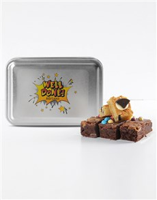 bakery: Personalised Well Done Mixed Delights Brownies!