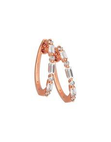 jewellery: 9KT Rose Gold Claw Set Diamond Earrings!