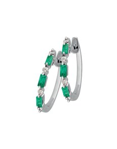 jewellery: 9KT Emerald and Diamond  Earrings!