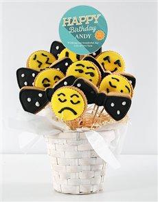 bakery: Personalised Birthday Emoji Cookie Bouquet!